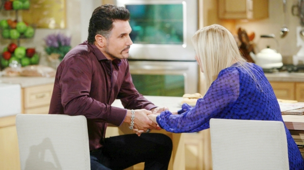 Bill assures Brooke that he still wants to marry her by proposing that they elope.
