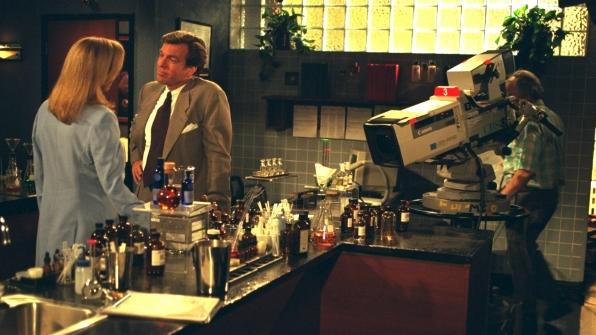 Peter Bergman hangs out inside Jabot.