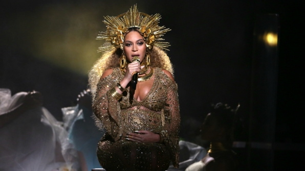 "Beyoncé proved she's, in fact, a true queen with her powerful GRAMMY performance of ""Love Drought"" and ""Sandcastles."""