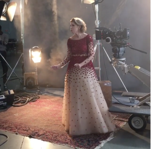 Christine Baranski livens up the shoot with her dance moves.
