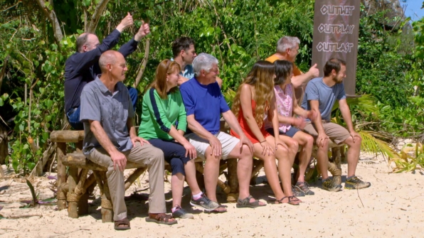 The loved ones look on as the next challenge is about to take place.
