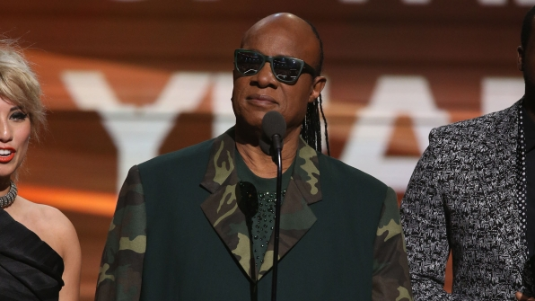The time Stevie Wonder read the Song Of The Year winner in braille