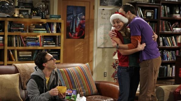 A rare Sheldon hug
