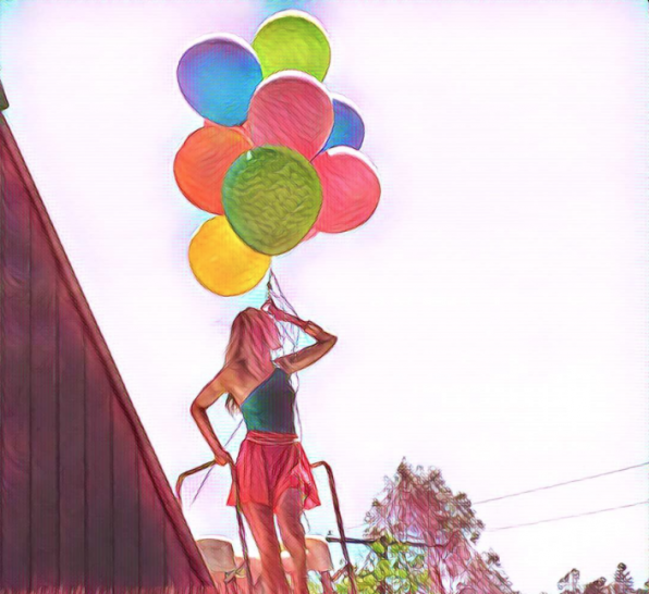 Jane the Virgin's Yael Grobglas looks light as air holding a bouquet of balloons.