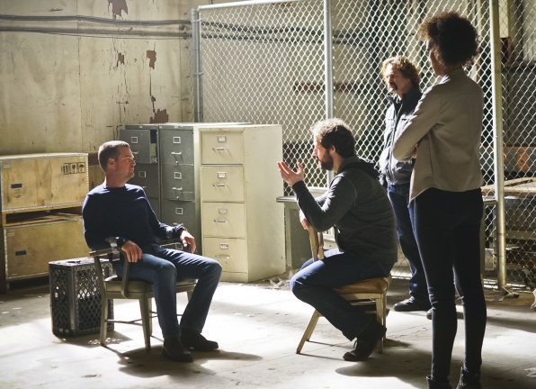 Chris O'Donnell as Special Agent G. Callen, Peter Cambor as Operational Psychologist Nate Getz, and Judith Shekoni as Alisa Chambers
