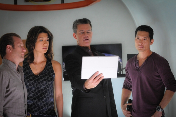 "Scott Caan as Danny ""Danno"" Williams, Grace Park as Kono Kalakaua and Daniel Dae Kim as Chin Ho Kelly"