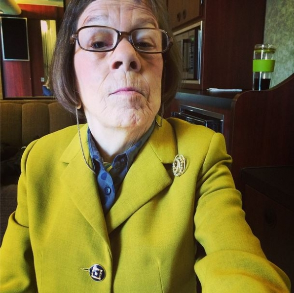 "NCISLA Instagram:  My turn for what they call a ""selfie."" - Linda Hunt #cbsinstagramtakeover #ncisla"