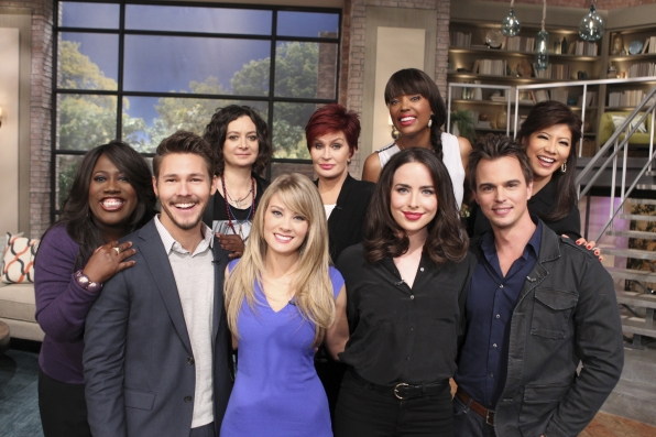 "6. Dishing with the cast of ""The Bold and the Beautiful."""
