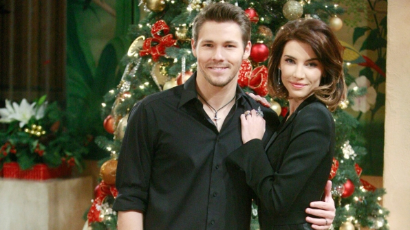 Liam and Steffy look bold in black.