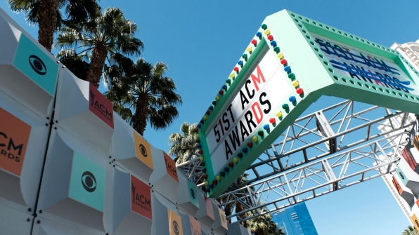 Have a sneak peek at the red carpet for tomorrow's big event.