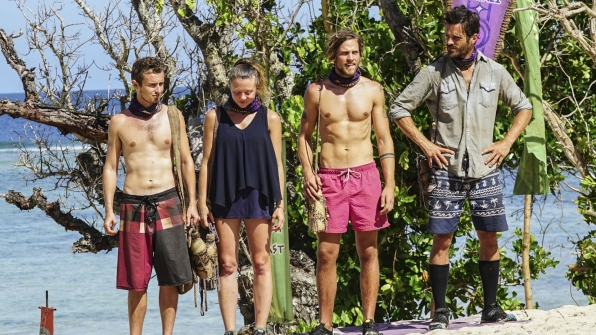 Adam, Jessica, Taylor, and Ken stand together before the challenge starts.