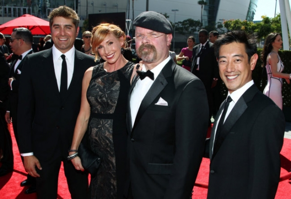 Tory Belleci, Kari Byron, Jamie Hyneman and Grant Imahara