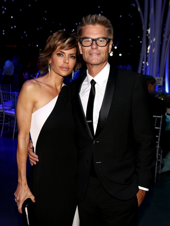Lisa Rinna and Harry Hamlin attend the Governors Ball