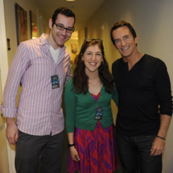 Mayim and Jeff Probst