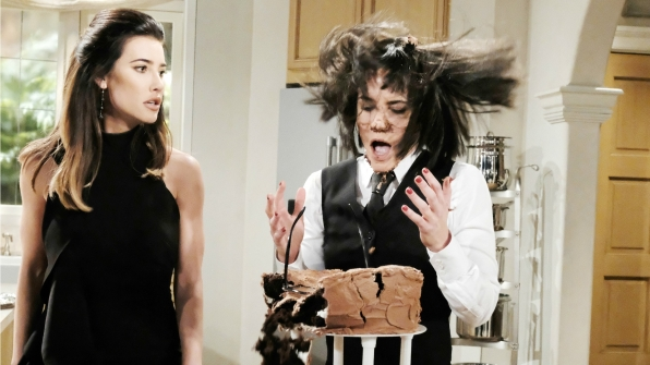 Steffy proves revenge is a piece of cake.