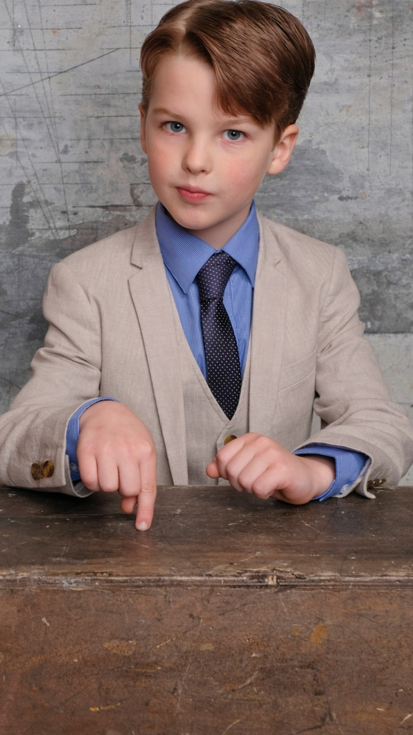 Iain Armitage of Young Sheldon