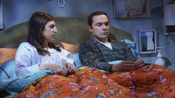 Amy and Sheldon discuss their cohabitation experiment.