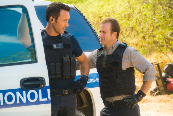 "Alex O'Loughlin as Steve McGarrett and Scott Caan as Danny ""Danno"" Williams"
