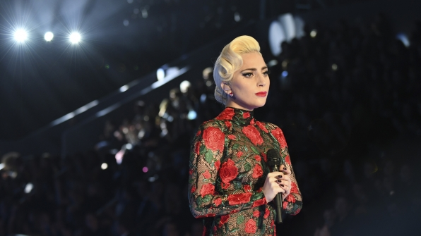 Lady Gaga receives quite the applause from the crowd.