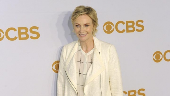 Jane Lynch scored major fashion points in an off-white ensemble