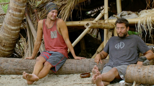 Jay and Bret enjoy a quiet moment back at camp.