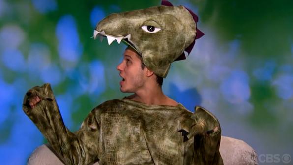 Cody Calafiore's dinosaur costume