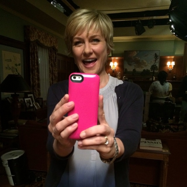 Blue Bloods Instagram: So is Amy! We are having fun taking pictures of one another taking pictures of one another between takes! #thatwasamouthful #myfavoriteaunt #CBSInstagramTakeover