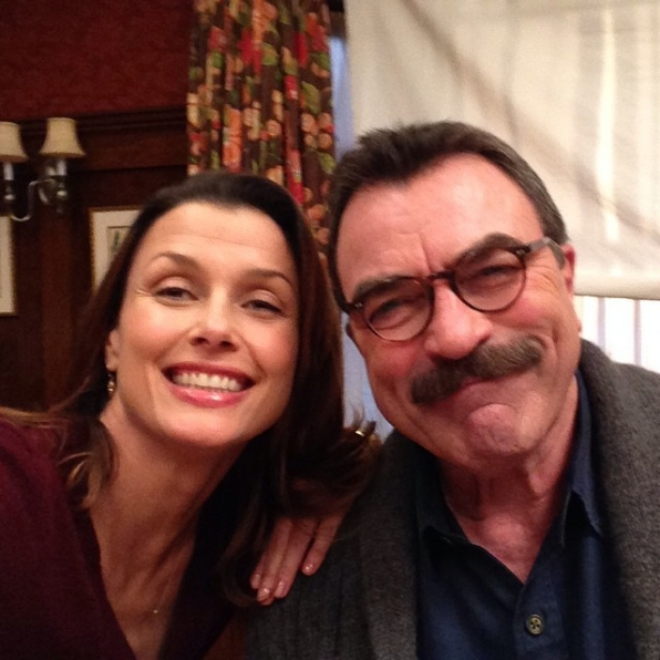 Blue Bloods Instagram: Dad and I post dinner! #BlueBloods #CBSInstagramTakeover