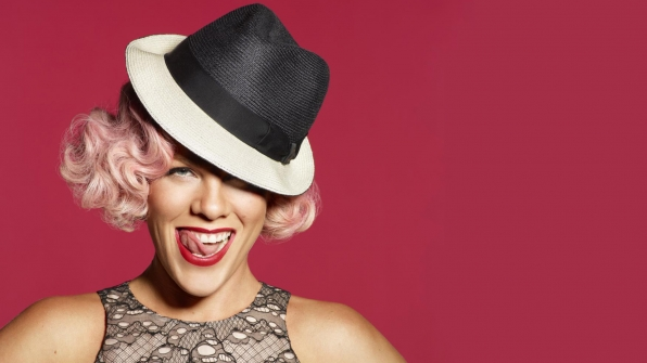 "P!nk lights up the world ""Just Like Fire."""