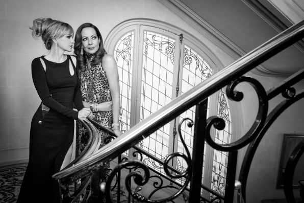 Anna Faris and Allison Janney are a chic party of two