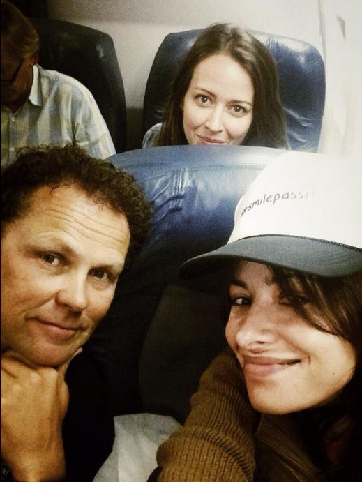 Sarah Shahi, Kevin Chapman and Amy Acker on their way to Comic-Con 2014