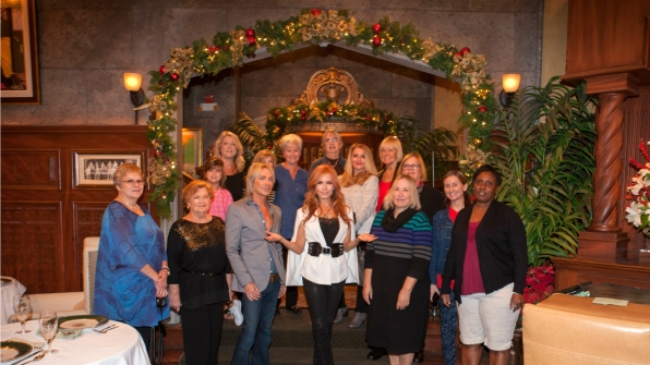 Y&R's Tracey Bregman strikes a pose with the group.