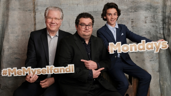 John Larroquette, Bobby Moynihan, and Jack Dylan Grazer of Me, Myself & I