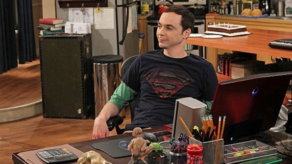 Sheldon Cooper's war-torn Superman shirt from The Big Bang Theory