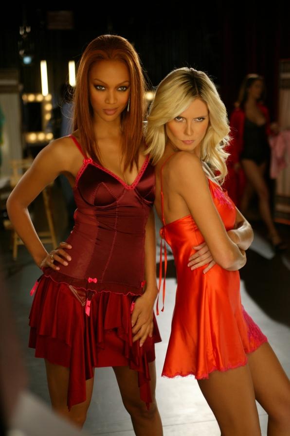 Tyra Banks and Heidi Klum