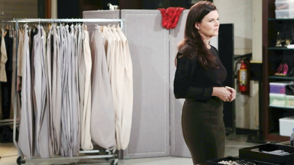 Katie becomes surprised and hurt by Brooke's reaction to her suspicions about Quinn and Ridge.