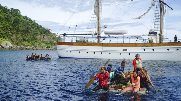 """Here are some photos from the season premiere episode of Survivor: Game Changers entitled """"The Stakes Have Been Raised."""""""