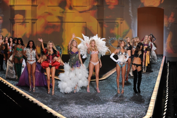 Models during at The Victoria's Secret Fashion Show