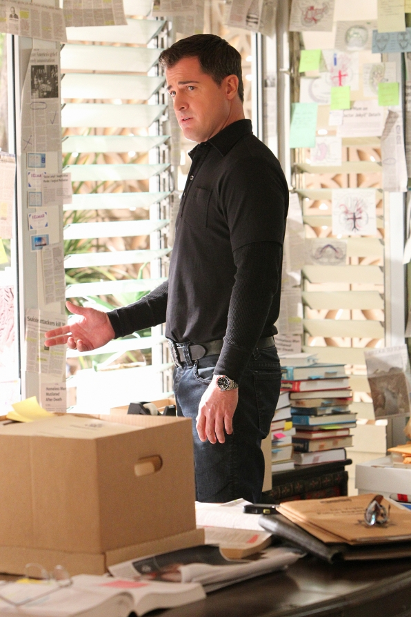"George Eads as Nick Stokes in ""Doctor Who"""