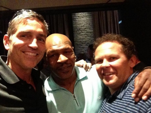 Jim Caviezel and Kevin Chapman bump into Mike Tyson!