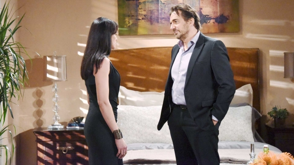 Ridge attempts to calm Quinn's fears by suggesting a way to suffice Katie enough to keep her quiet.