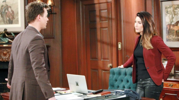 Wyatt points out to Steffy how his love for her greatly differs from Liam's.
