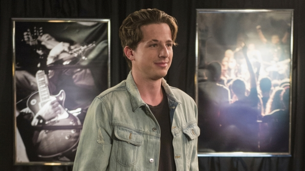 "Charlie Puth in ""Facebook Fish Planner Backstage"""
