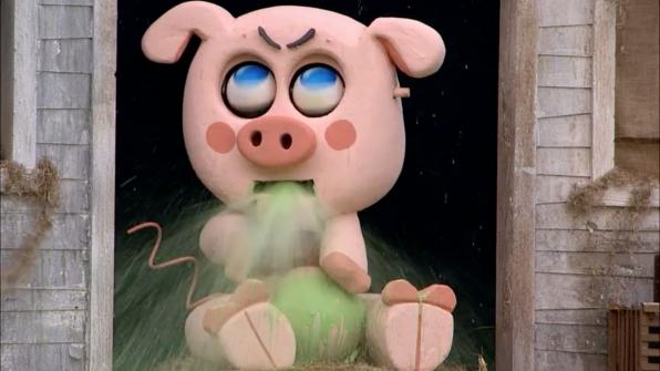 "OTEV ""The Possessed Piglet"" spewed green vomit in Season 19."