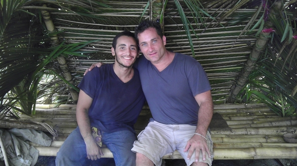 Brandon and his father, Shawn Hantz