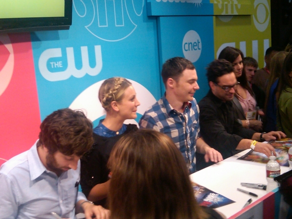 Big Bang Theory Autograph Signing at Comic-Con 2011