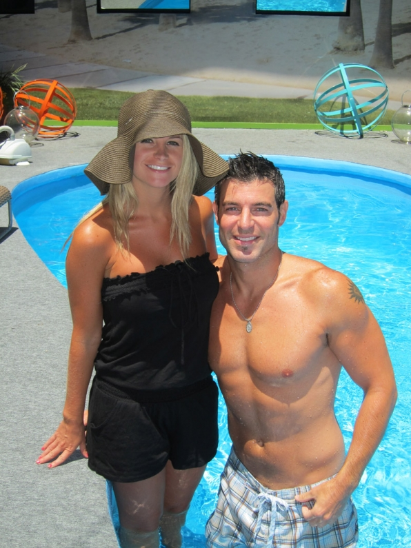 Jordan and Jeff By the Pool