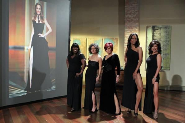 The Hosts Doing Angelina Jolie Oscar Pose