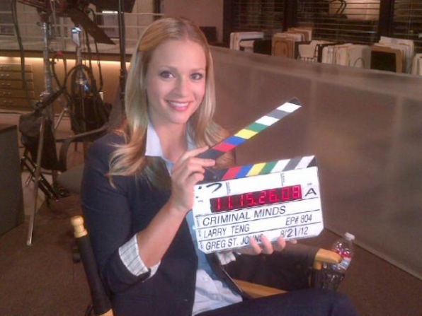On Set at Criminal Minds with A.J. Cook