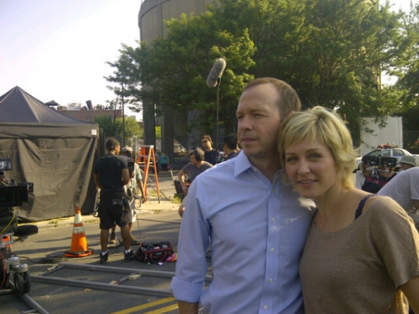 Amy Carlson Tweets On the Set of Blue Bloods